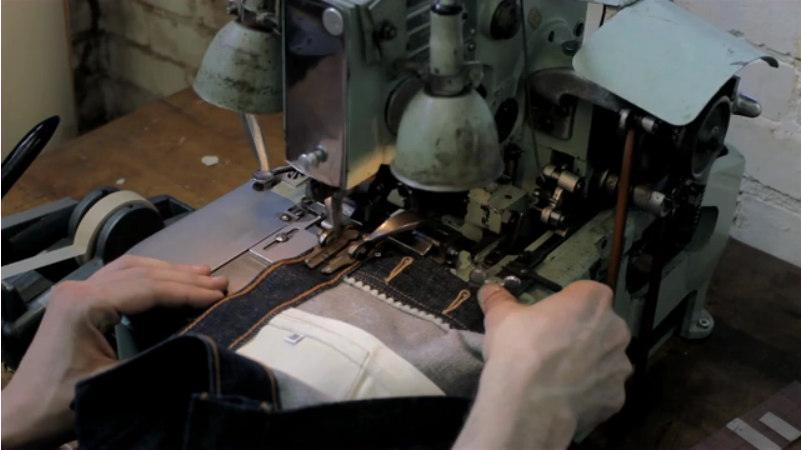 the making of selvedge denim jeans