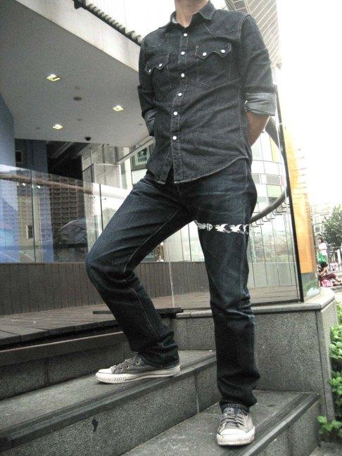 Levi's 1955 sawtooth denim shirt+Eternal 883 denim jeans 2