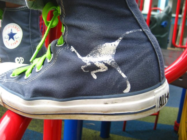 Converse All Star Jr left Struthiomimus