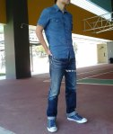 Eternal 883 at basketball court frontal denim shirt 2