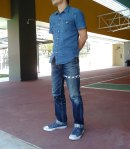 Eternal 883 at basketball court frontal denim shirt
