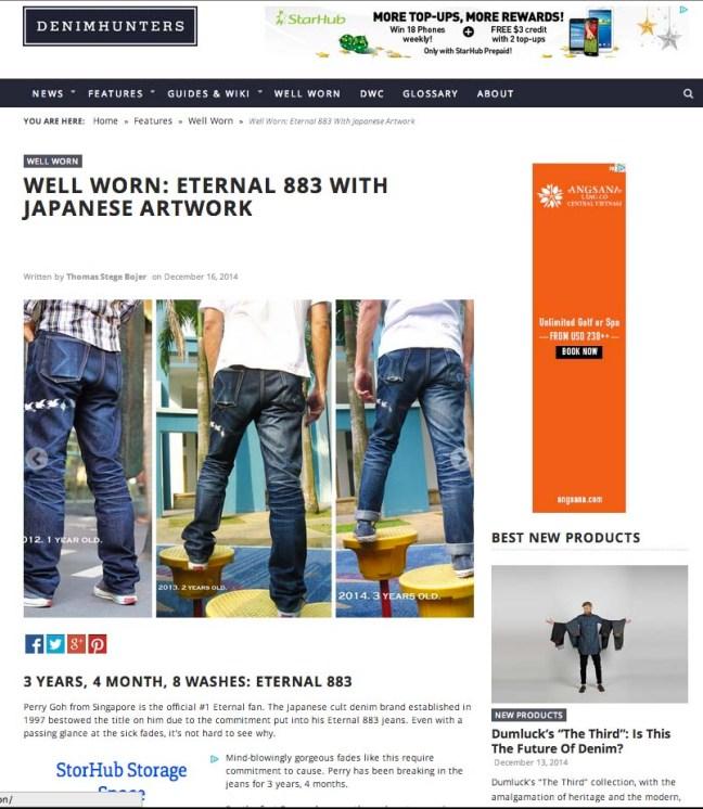 Eternal 883 on Denimhunters WellWWorn page