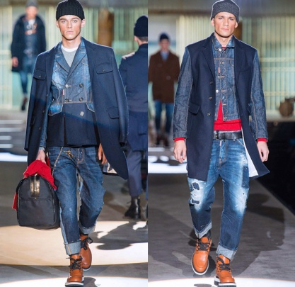 dsquared2-dean-dan-caten-2014-2015-fall-autumn-winter-milan-fashion-mens-runway-moda-italy-prison-denim-jeans-jacket-destroyed-reverse-coat-cargo-bomber-suit-02x