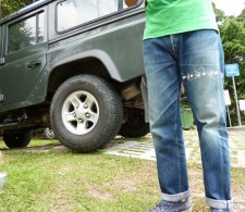 Levi's 501XX 1966 and Defender110