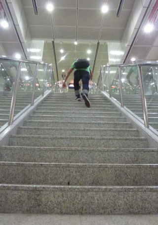 eternal-888-denim-jeans-perry-on-long-step-stair-climb-3