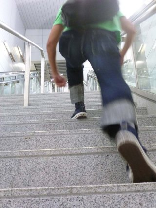 eternal-888-denim-jeans-perry-on-long-step-stair-climb-4