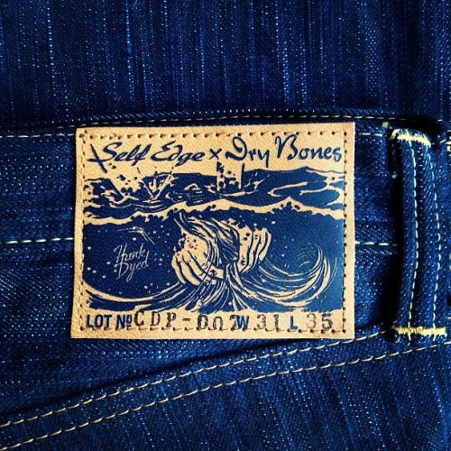 Dry Bones indigo patch
