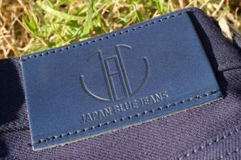 JapanBlue-JB0625- indigo LeatherPatch