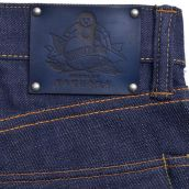 mOMOTARO INDIGO LEATHER PATCH